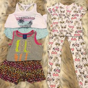 Girls Pajama Set of 3 (Size 7/8)